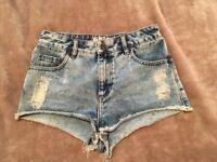 Newlook Denim Shorts - Size 8