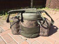 Carp Fishing Tribal Shimano bucket seat, carp luggage, tackle. includes the correct size bucket