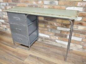 Stunning Shabby Chic Industrial Metal & Wood Desk - Delivery Available