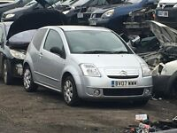 CITROEN C2 PETROL 2007 SILVER FOR PARTS ONLY