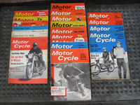 Motor Cycle magazine 1963 - 1967, 19 motorcycle motorcycling magazines in total