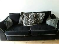 Large three and two seater sofa
