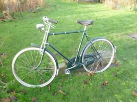 Vintage 1950's Town Bicycle by Raleigh of Nottingham. Professionally restored a few years ago.