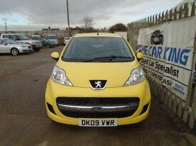 PEUGEOT 107 1.0 12v Urban 2-Tronic 5dr Auto (yellow) 2009
