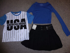Size 6 clothing - 2 tops & skirt