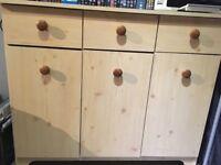 Wood effect sideboard