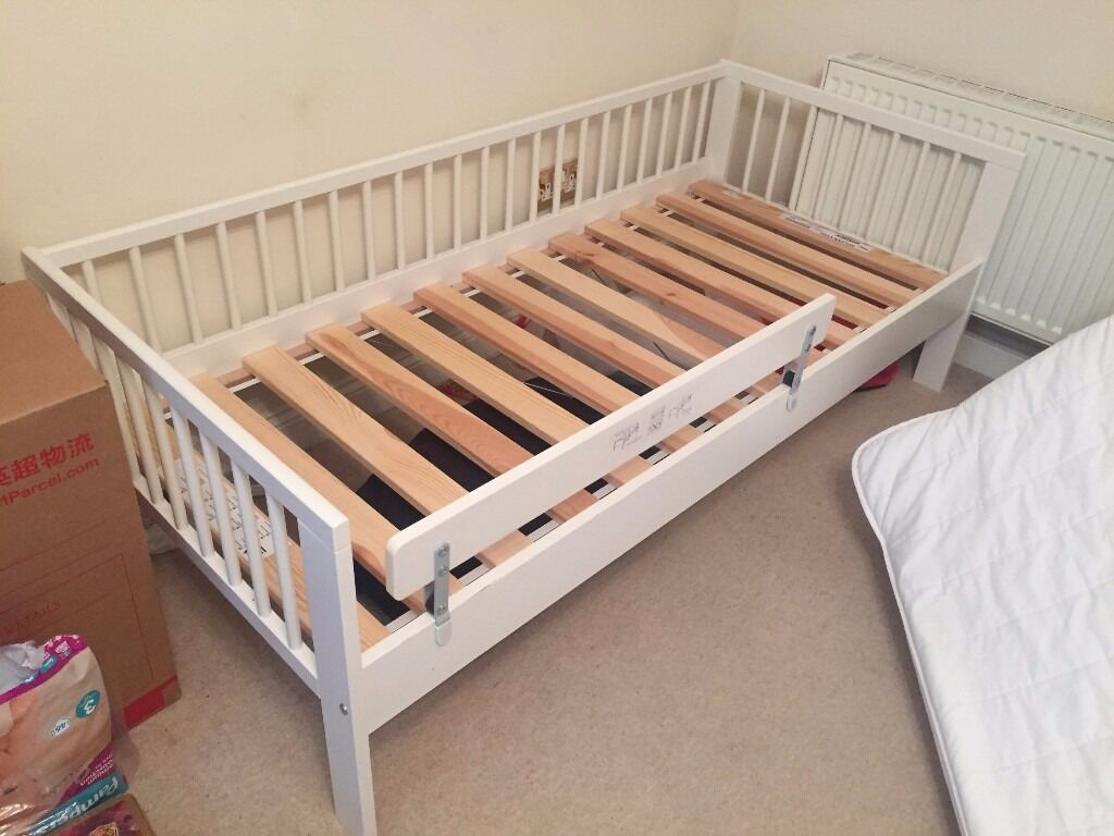 High Quality Toddler Bed From IKEA With One Mattress Two Cover And Guard