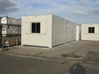 32ft x 10ft Anti Vandal Portable Cabin OPEN PLAN Welfare Unit site office shipping container shed