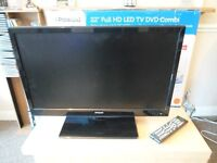 "Polaroid 22"" HD Ready 1080p LED Television DVD Combo Integrated Freeview D"
