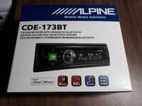 Alpine CDE-173BT Car Stereo CD Tuner with Bluetooth
