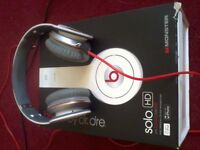 BEATS DR.DRE SOLO HD HEADPHONES - WHITE (BOXED)