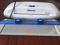 Laminator, Pouches and cutter