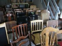XMAS DINING CHAIRS SPARE DINING CHAIRS FOR CHRISTMAS ALL £5 EACH LARGE SELECTION ALL AT £5 EACH