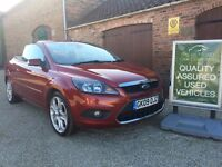 09 FORD FOCUS CC-3 CONVERTIBLE, STUNNING LOW MILEAGE EXAMPLE, 30,000. FROM THE RETFORD CAR COMPANY