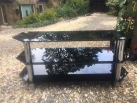 Large black glass to stand / tv table. £40 ONO