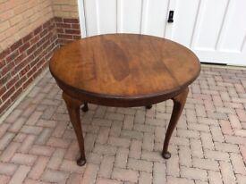 Oval walnut table