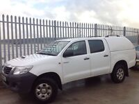 2011 TOYOTA HILUX D/C 2.5 D4-D HL2 4X4 MANUAL WHITE ++ IMMACULATE CONDITION!! ++