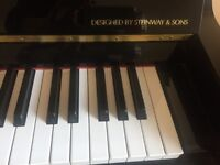 Steinway & Sons Boston Upright Black Piano Excellent Condition