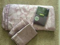 Next lilac jacquard king size bedding & matching canvas