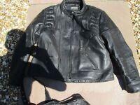 Stein 2 piece motorbike leathers