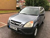 2003 Honda Cr-V 2.0 i-VTEC SE Station Wagon 5dr Manual 2.0L @07445775115