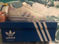 Adidas Superstar uk Size 5.5 women's Trainers. Hardly Worn