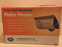 New Patio Heater - wall mounted - 2kw £70