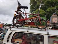 Rare Early Raleigh Chopper Mk2 1972 dimpled front wheel etc