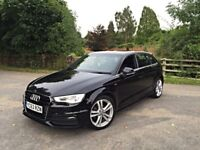 2013 63 AUDI A3 S LINE 1.6 TDI 5DR HPI CLEAR FSH FULLY LOADED