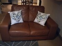 2 lovely faux leather sofas