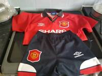 Rare retro Manchester United home kit 94/95 £15ono LB