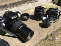 Canon EOS 1100D Camera and 3 Lens