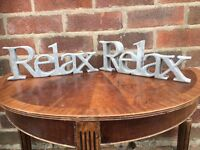 Job Lot of 20 Sandstone Bathroom RELAX Words - RRP £10 - NEW AND BOXED- Bargain