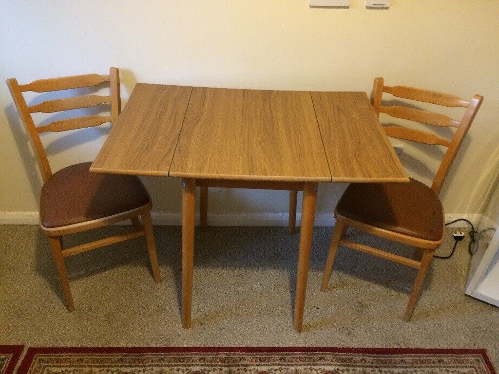 Small Drop Leaf Kitchen Tables.Small Drop Leaf Kitchen Table And Two Chairs In Oswestry Shropshire Gumtree