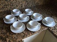 8 HABITAT CHINA CUPS AND SAUCERS