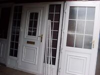 2 upvc doors georgen bar complete with side glass and both keys