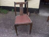 OLd Dining Chair With Leather Base Delivery Available