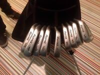 Dunlop Tour Ti, full set of clubs, wood and drivers with graphite shafts