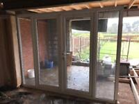 Patio Doors and full length side windows