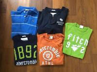 5 Abercrombie & Fitch T-shirts ( 1 is Polo Shirt)