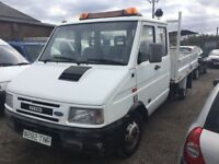 RARE FORD IVECO 49 12 TIPPER TWINWHEEL WITH BUILT IN COMPRESSOR FIR POWER WASHERS CREWCAB TRUCK