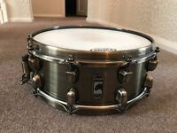 """Mapex Black Panther Brass Cat 14x5.5"""" Snare Drum + Case"""