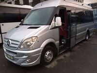 2008 Mercedes Sprinter 515 CDI 17 seater coach spec minibus +++ 1 owner +++ fully loaded