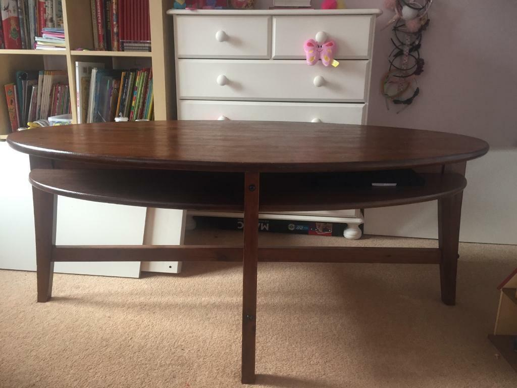 Credenza Ikea Leksvik : Ikea leksvik coffee table dark brown in dunfermline fife