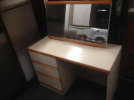 Cream dressing table with draws