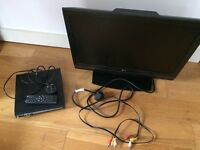 LG flat screen TV (22 inch) & a DVD player
