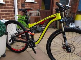 Specialized Camba carbon Expert full suspension mountain bike.