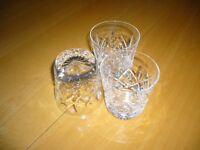 3 Whiskey tumblers