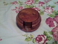 walnut box with 12 coasters