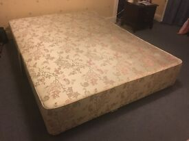 King size double divan bed base - in good condition